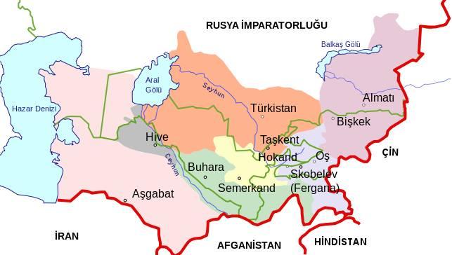 1900 yılı türkistan haritas