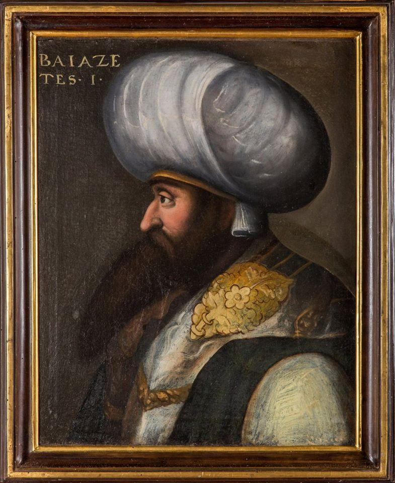 1. (yıldırım) beyazıt'ın (1389-1402) yağlı boya portresi