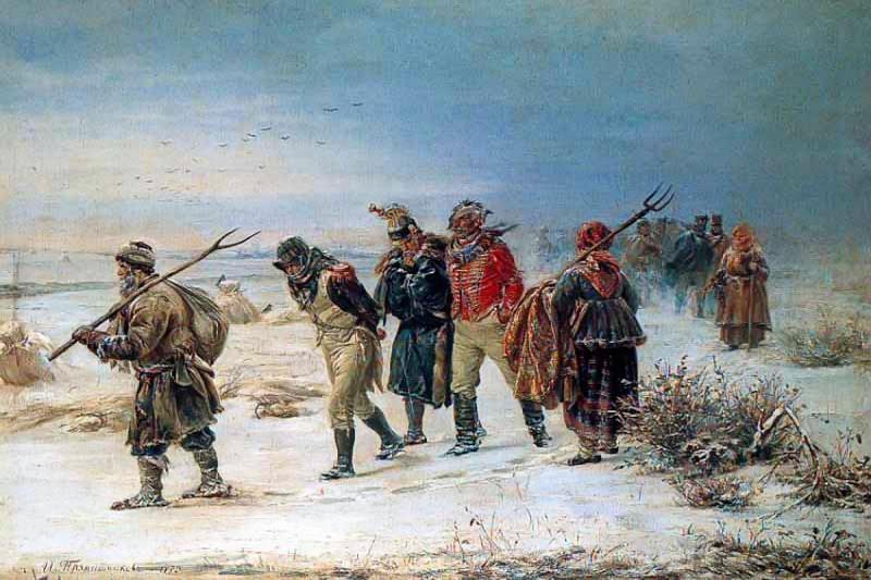 the french retreat in 1812, illarion pryanishnikov