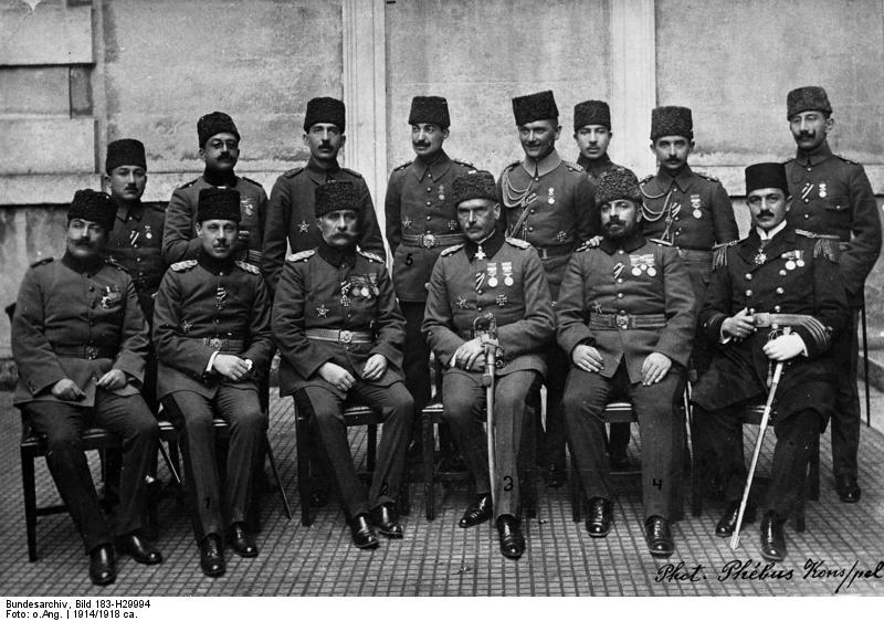 otto liman von sanders (1855 - 1929), alman general ve osmanlı mareşali, türk subayları ile