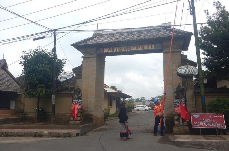 Въезд в деревню Penglipuran