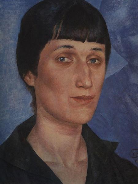 0017-Петров-Водкин-Портрет-А.А.Ахматовой.-1922-450x600