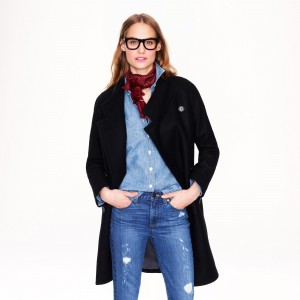 Double-breasted cocoon coat in wool-cashmere 25000