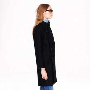 Double-breasted cocoon coat in wool-cashmere 2