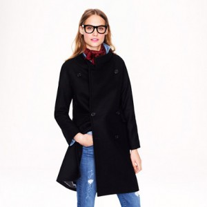 Double-breasted cocoon coat in wool-cashmere 4