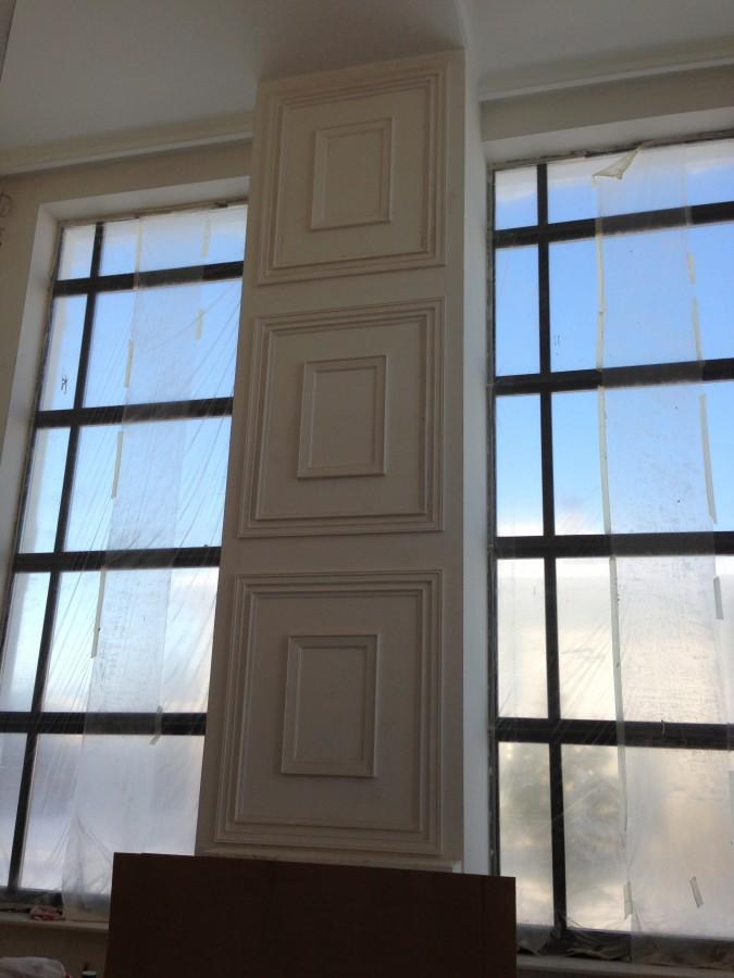 Шторы на высокие окна фото