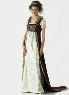 Выкройка платья ампир бурда