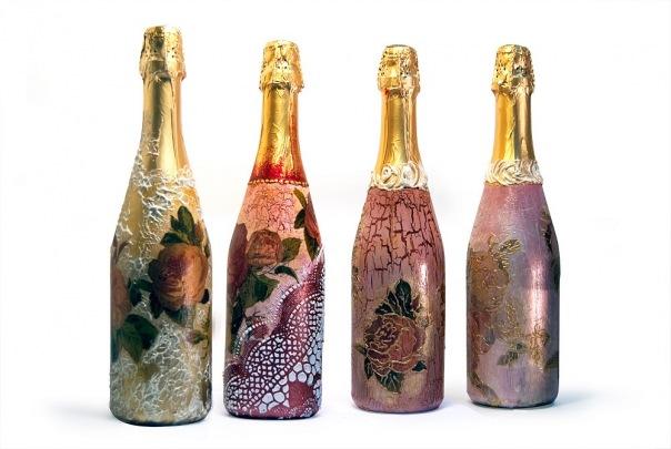 Декор шампанского своими руками на новый год