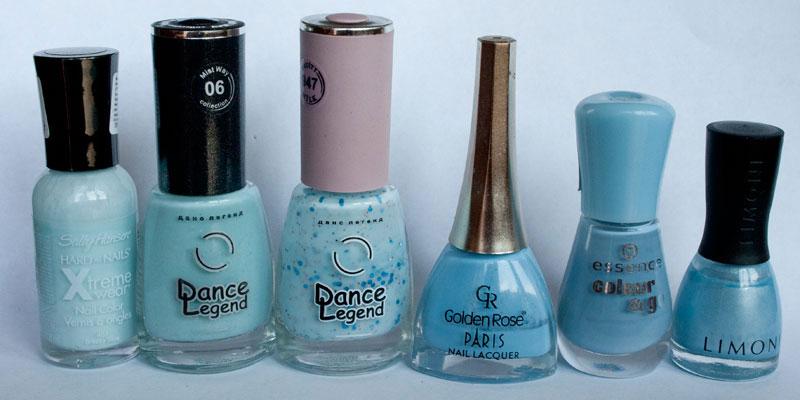 Sally_Hansen_481_Breezy-Blue,-Dance-Legend-06-Morning-Dew,-Dance-Legend-947-Blue-Hawaii,-Golden-Rose-132,-Essence-158-If-I-were-a-boy,-Limoni-795