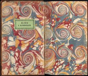 Форзац французской книги 1735 года