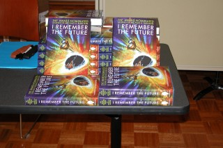 Copies of I Remember the Future waiting to be sIgned
