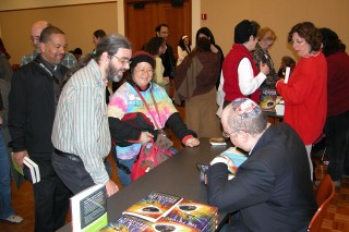 Michael Signing Books at the Publication Party