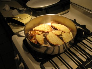 Lots of French Toast Frying