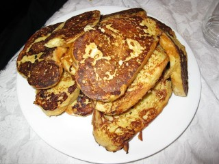 French Toast for a Groundhog Day Snowstorm