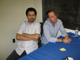 Ricardo Cortés and Adam Mansbach at Brookline Booksmith