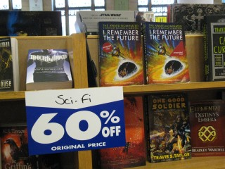 Borders Science Fiction Section at 60% Off