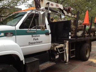 Boston Park Department Truck in Copley Square