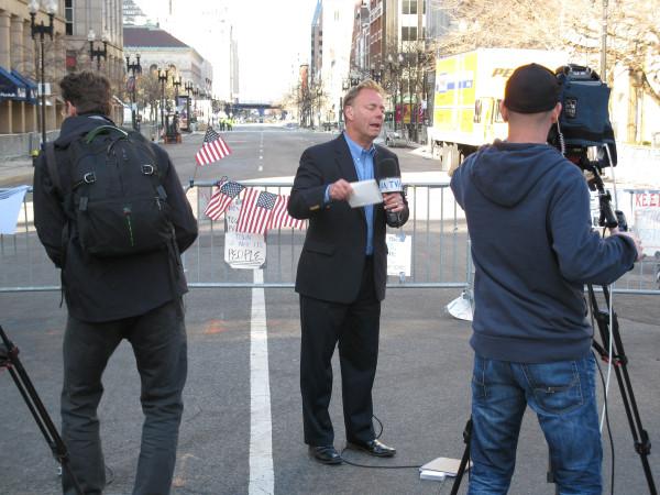 Reporter on the Scene