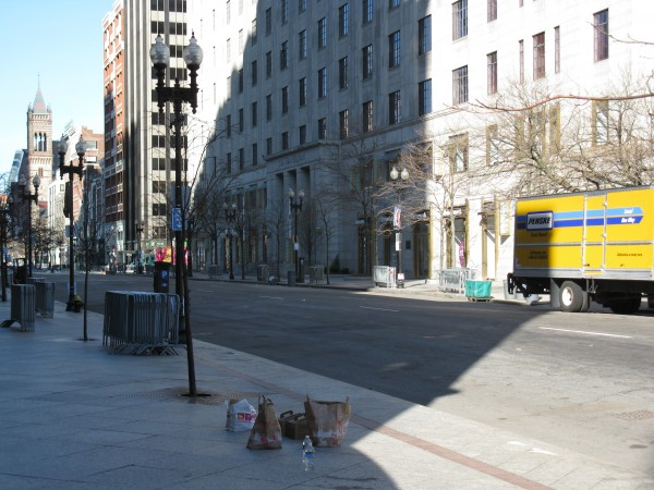 An Empty Boylston Street