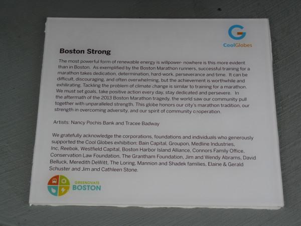 Placard: Boston Strong