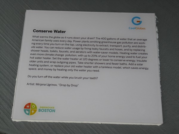Placard: Conserve Water