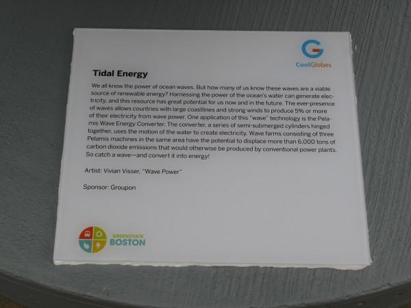 Placard: Tidal Energy