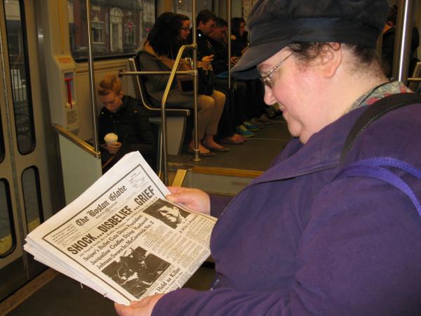 Boston Globe Kennedy Assassination Wraparound Front Cover