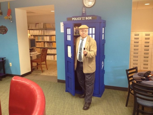Michael Emerges from the TARDIS