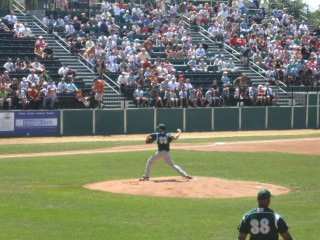 Mike McTamney Pitching for the Rox