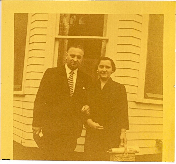 Louis Cohen and Clara Baker Cohen, circa 1954