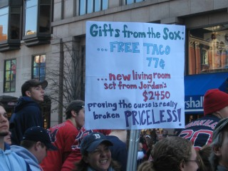 Red Sox Rally Sign