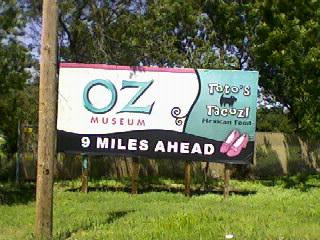 Oz Museum Sign