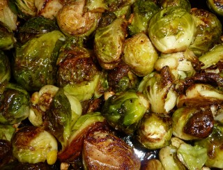 yummy, tender, sweet roasted brussels sprouts