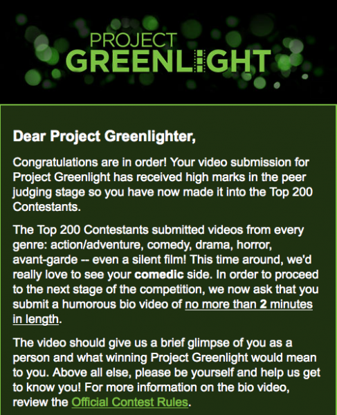 Greenlight Finalist
