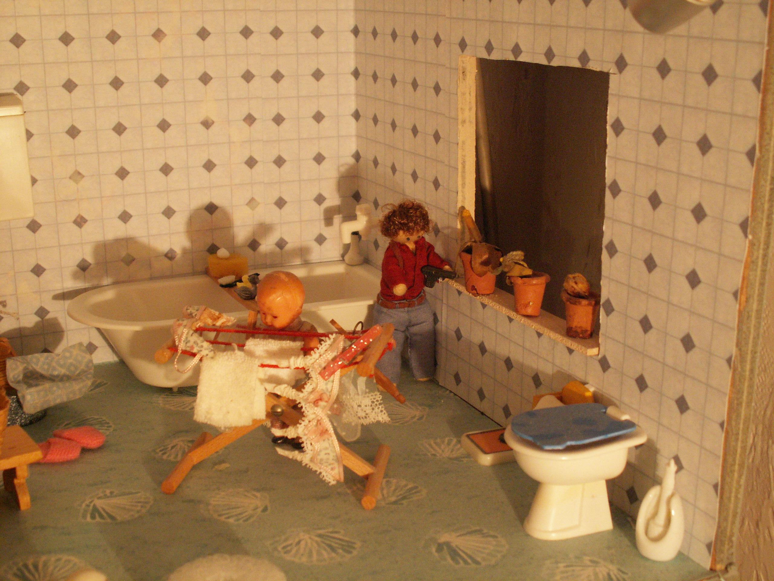 Bathroom with granny