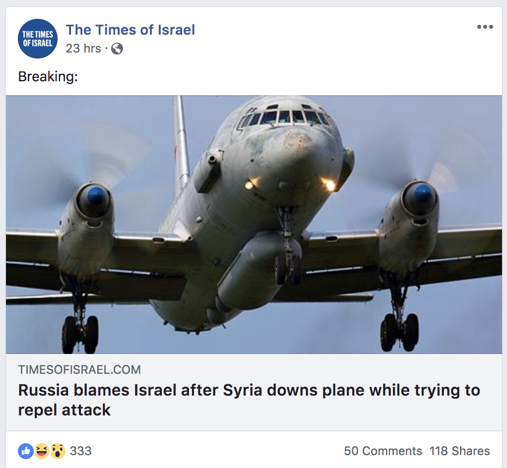 Что говорят в Израиле о сбитом российском самолете