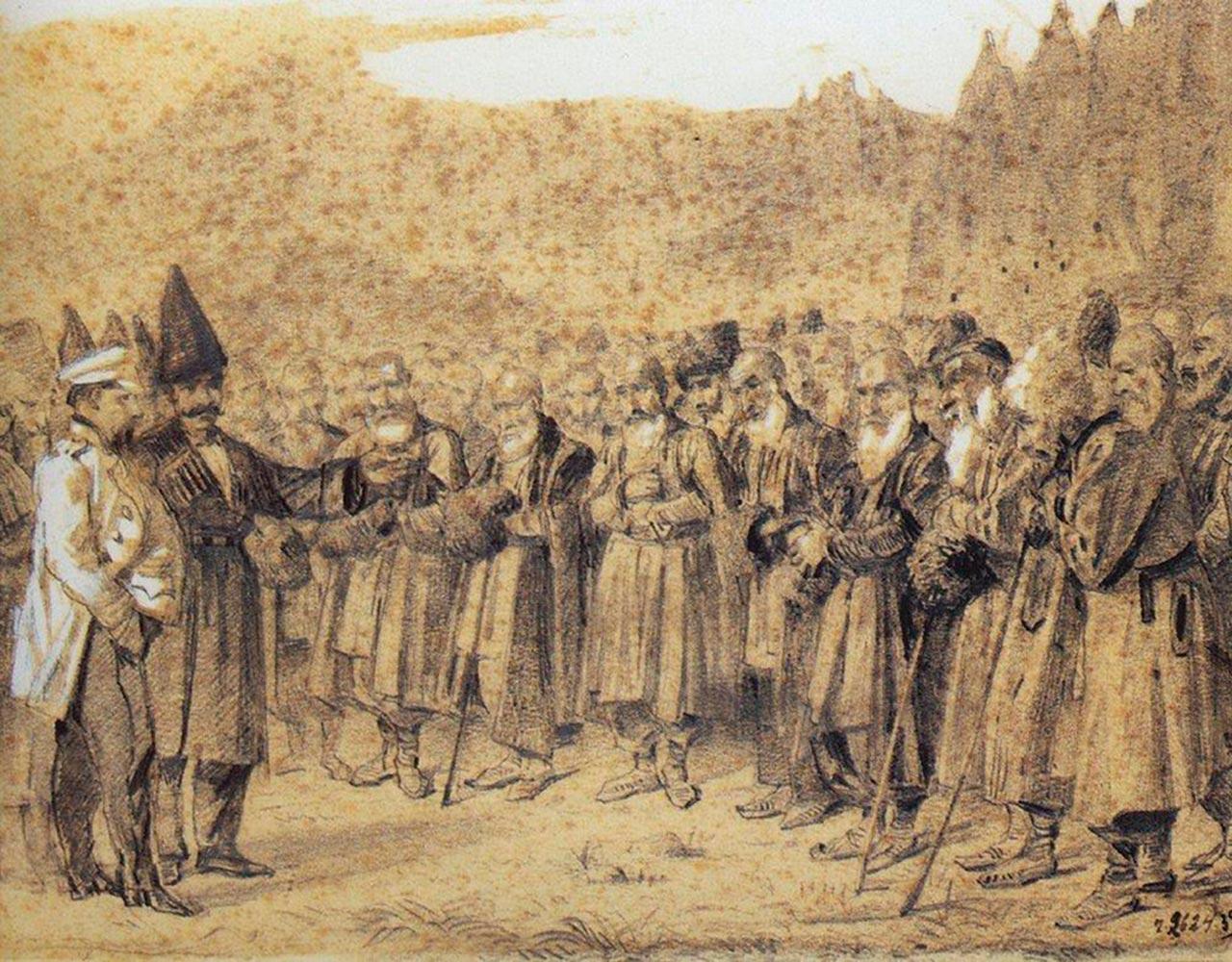 кавказцы на приеме