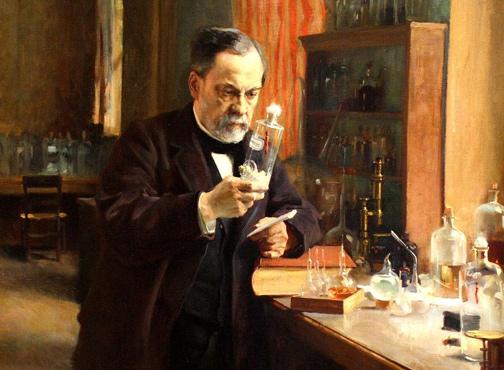 Альфред Нобель в лаборатории