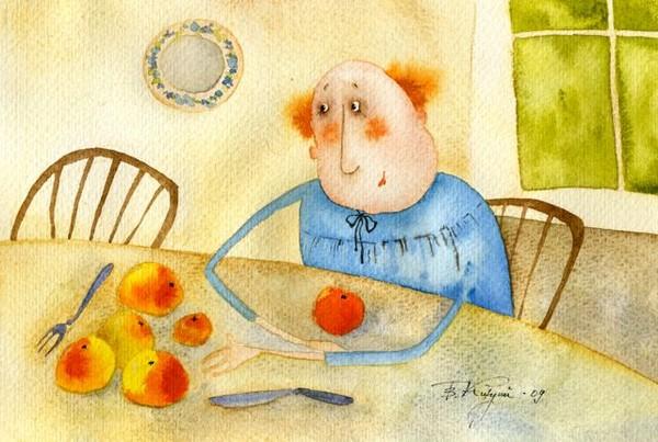 серов с персиками