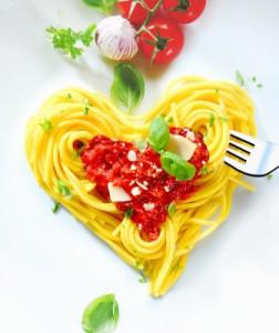Спагетти ко дню Святого Валентина