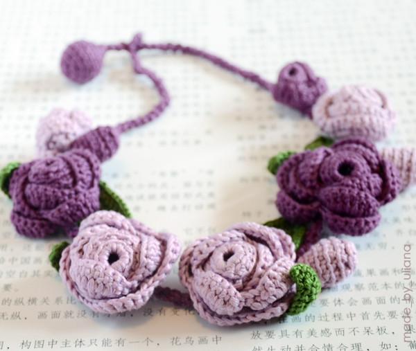 Вязание: цветы, украшения