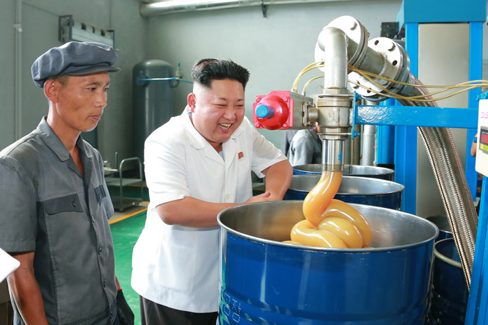 kim-jong-un-visits-lubricant-factory-imparting-field-guidance