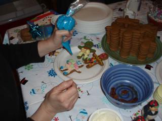 Gingerbread in progress.