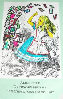 Alice Felt Overwhelmed by her Christmas Card List