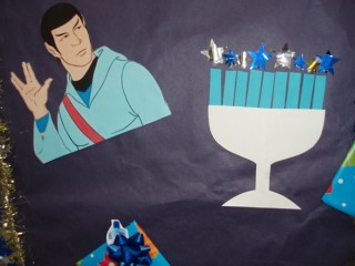 Spock wishes you a Happy Hanukkah