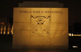 Entry to WW 2 Memorial, Night