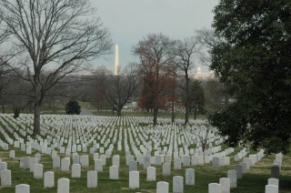 View of Washington from the Arlington National Cemetary