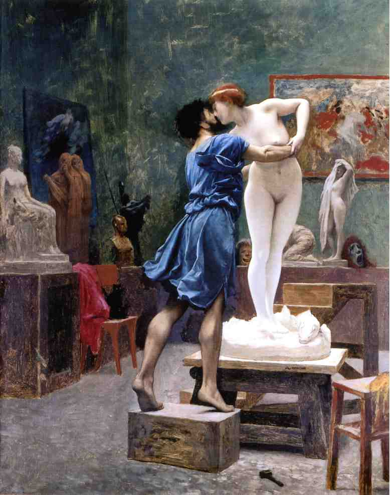 Пигмалион и Галатея. Автор - Jean-Leon Gerome, 1882-