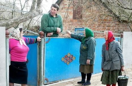 Леонид Стадник в родном селе