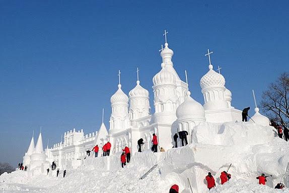 фестиваль снега Jingyue Snow World Festiva Китй